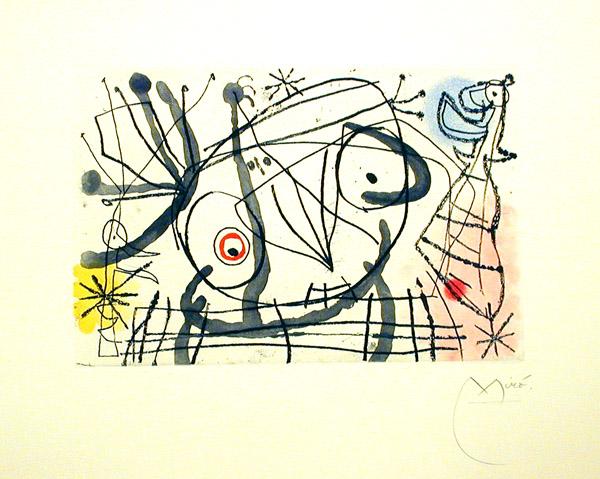 Joan Miro Print - Fissures - Plate IIa