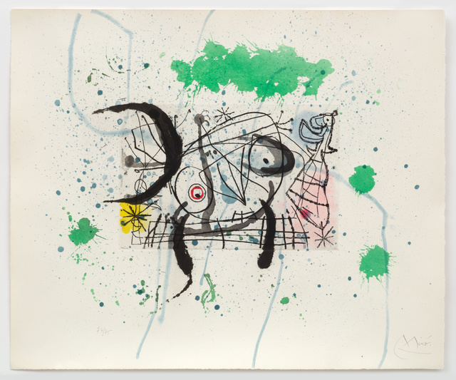 Joan Miro Print - Fissures - Plate VI