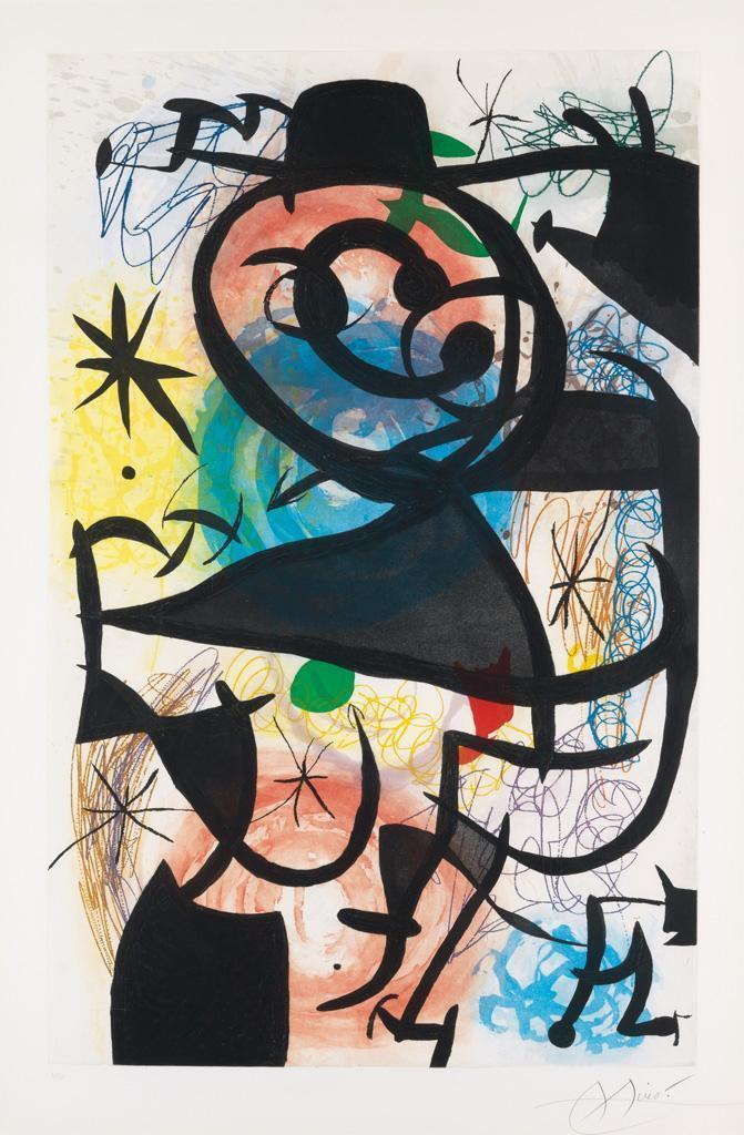 Joan Miro Print - Le Pitre Rose