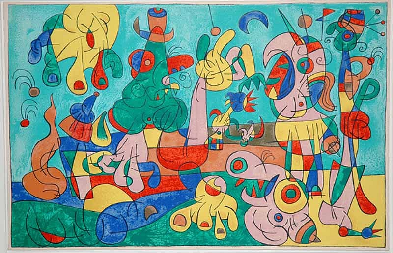 Joan Miro Print - Ubu Roi - II Le Banquet