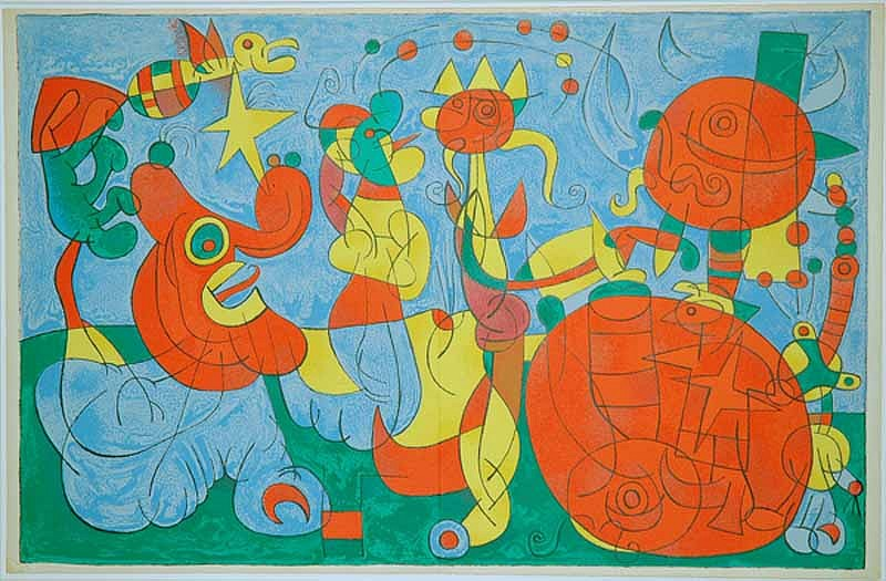 Joan Miro Print - Ubu Roi - III Chez le Roi de Pologne
