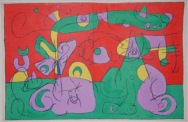 Joan Miro Print - Ubu Roi - VI Bougrelas et Sa Mère