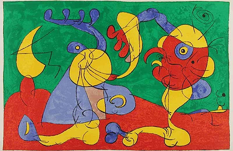 Joan Miro Print - Ubu Roi - VII Les Nobles à la Trappe