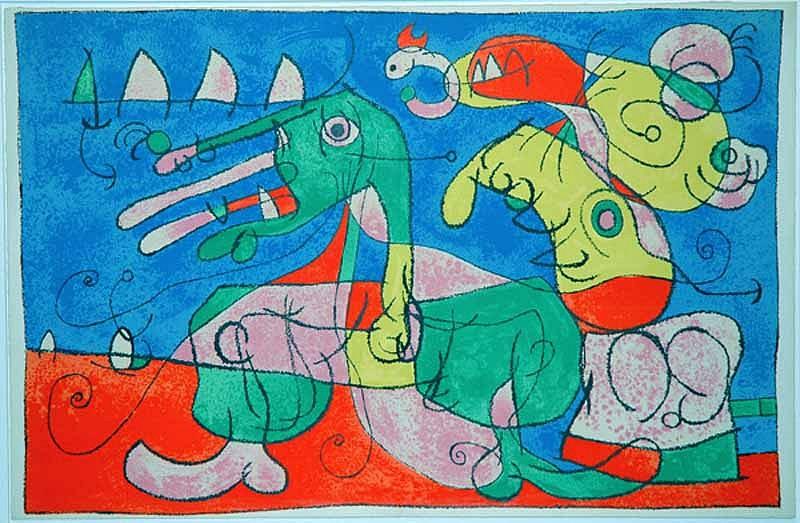Joan Miro Print - Ubu Roi - VIII Chez le Tsar
