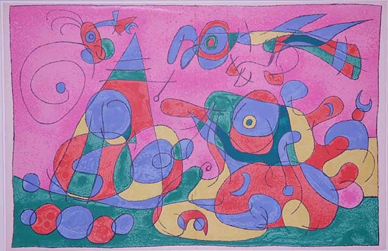 Joan Miro Print - Ubu Roi - IX Le Trésor et la Mère Ubu