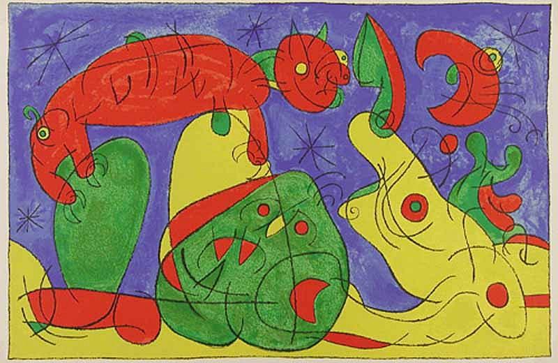 Joan Miro Print - Ubu Roi - XI La Nuit, L