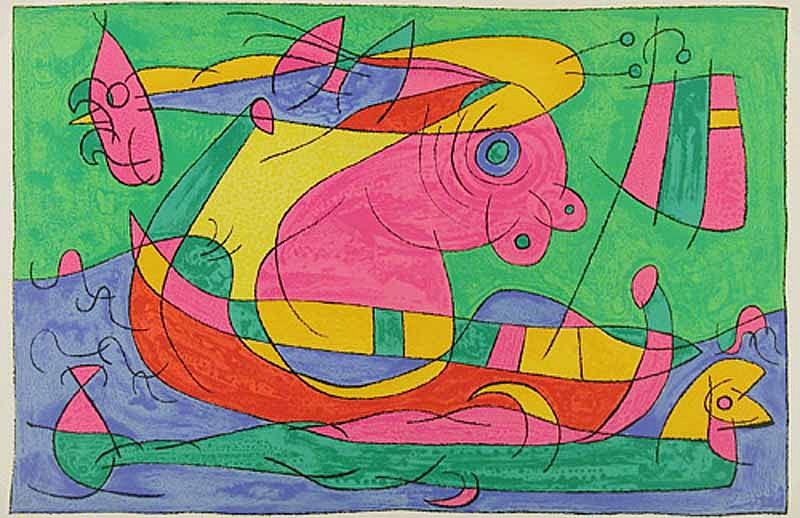 Joan Miro Print - Ubu Roi - XIII Le Voyage de Retour