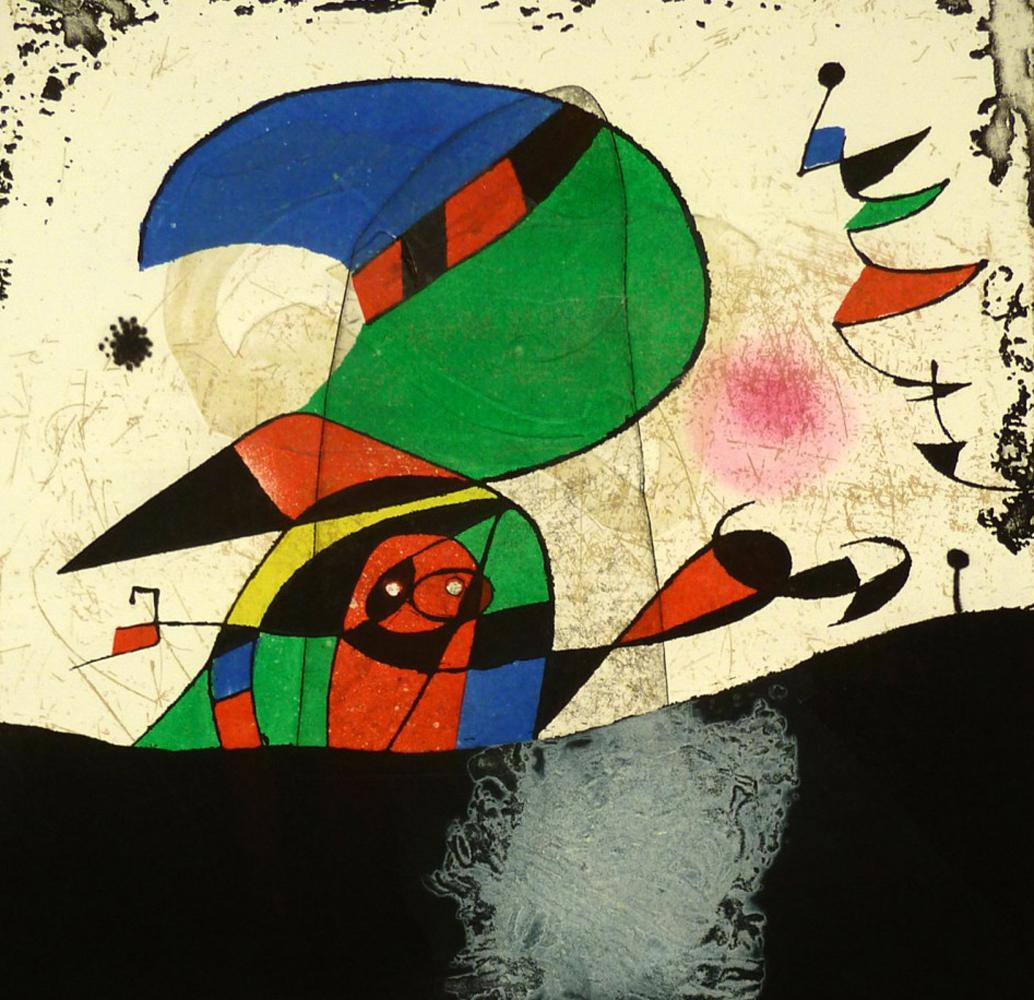 Joan Miro Print - Series Gaudi 29