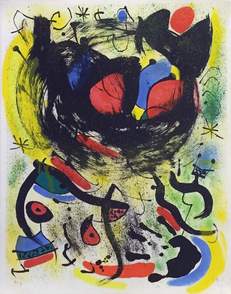 Joan Miro Print - Les Voyants - Plate 1
