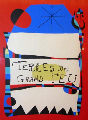 Joan Miro Print - Terres De Grand Feu
