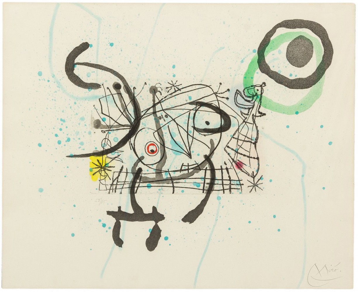 Joan Miro Print - Fissures - Fissures Plate IX