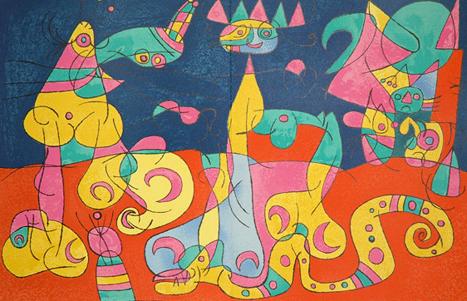 Joan Miro Print - Ubu Roi - IV La Revue