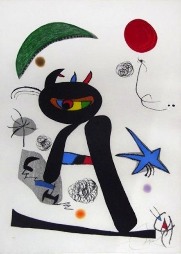 Joan Miro Print - Barbare Dans La Neige