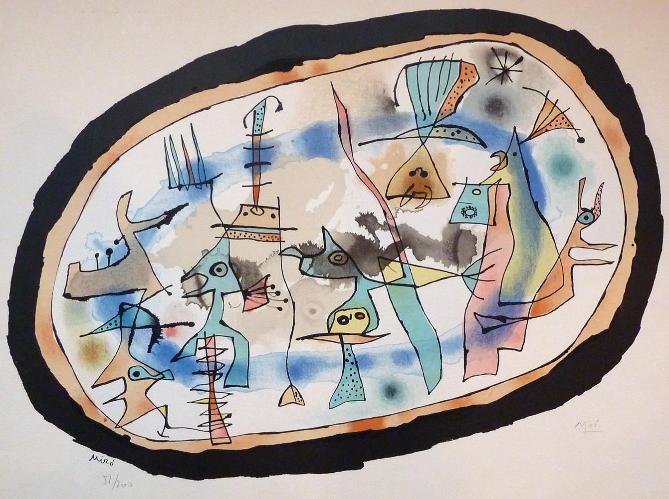 Joan Miro Print - La Naissance Du Jour