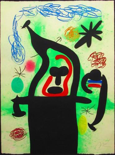 Joan Miro Print - La Harpie