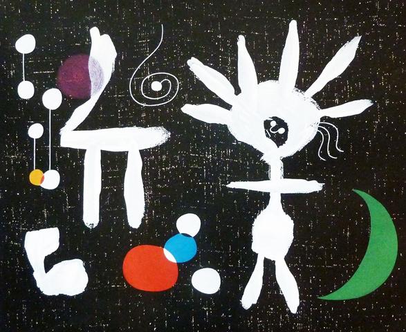 Joan Miro Print - Rose Matinale Au Claire De Lune