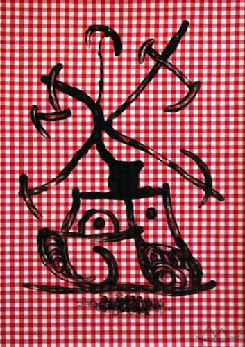 Joan Miro Print - La Dame Aux Damiers