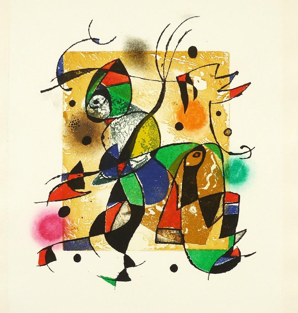 Joan Miro Print - Series Gaudi 41