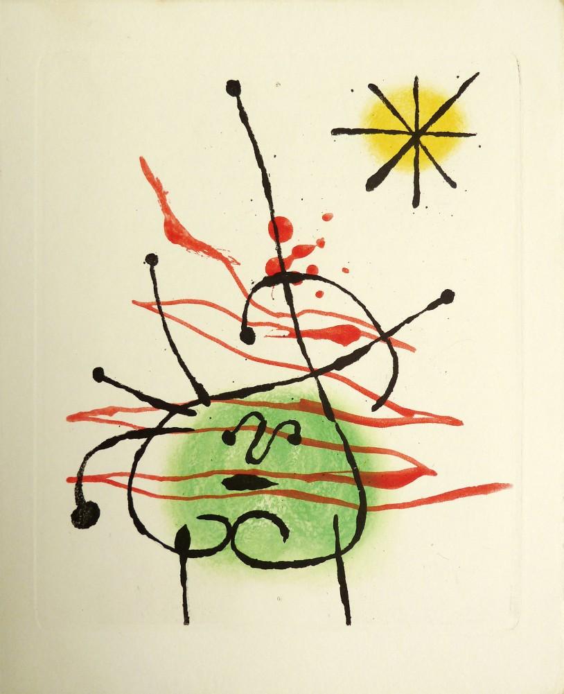 Joan Miro Print - Le Bague D