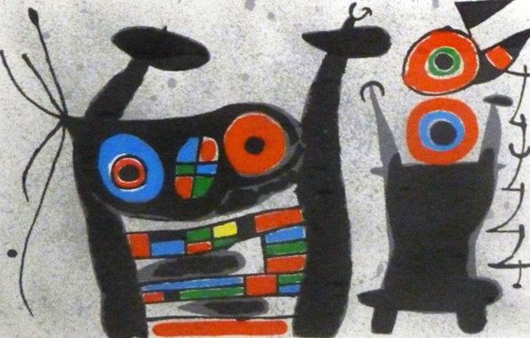 Joan Miro Print - Le Lezard Aux Plumes D