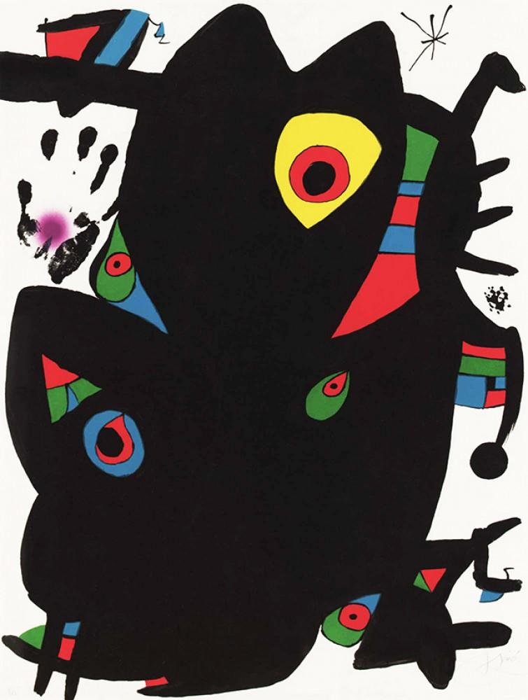 Joan Miro Print - Montroig 2