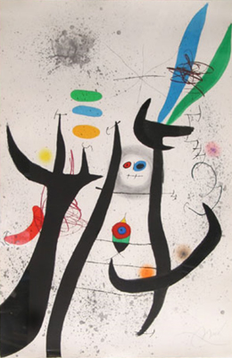 Joan Miro Print - La Femme Arborescente (Dupin 649)