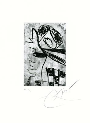 Joan Miro Print - Image VI from the Des Saltimbanques Suite