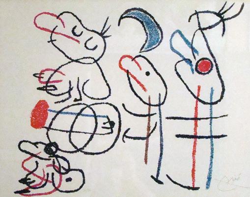 Joan Miro Print - Ubu Aux Baleares