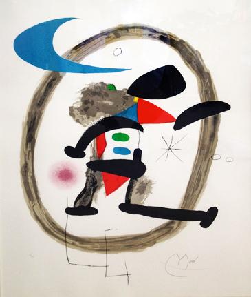 Joan Miro Print - Arlequin Circonscrit
