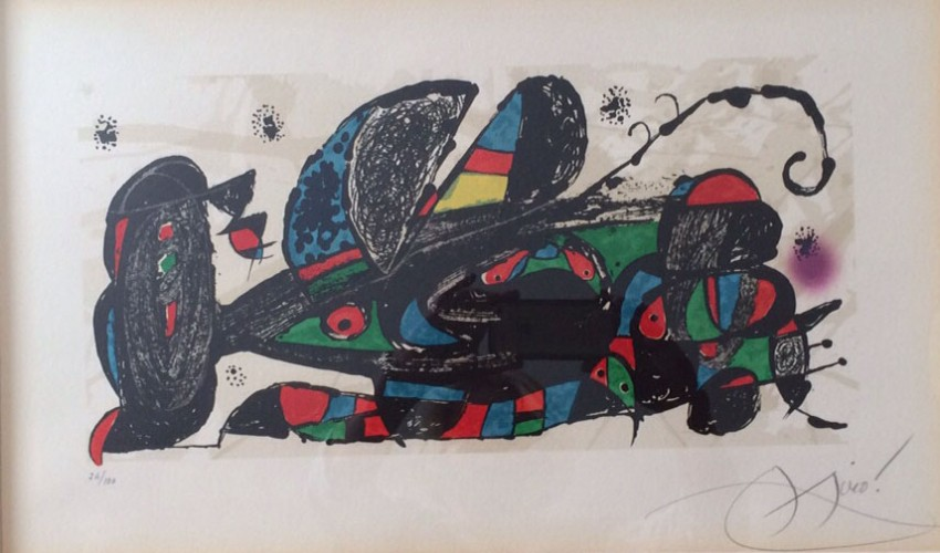 Joan Miro Print - Escultor