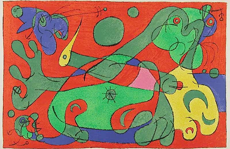 Joan Miro Print - Ubu Roi - X La Guerre