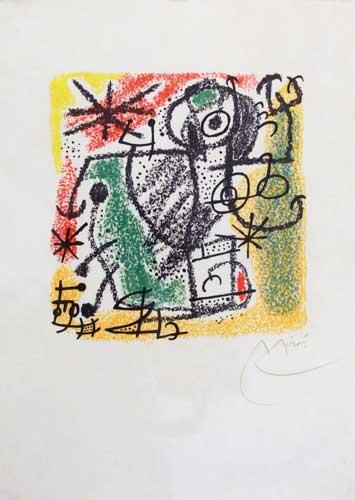 Joan Miro Print - Essences of the Earth