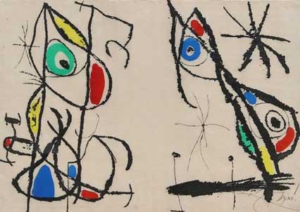 Joan Miro Print - Courtesan Grotesque