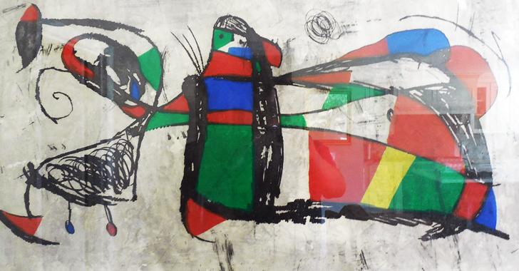 Joan Miro Print - Tres Joans