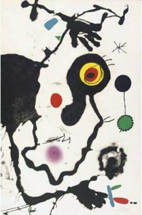 Joan Miro Print - Barcelona