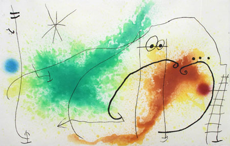 Joan Miro Print - Partie De Campagne IV
