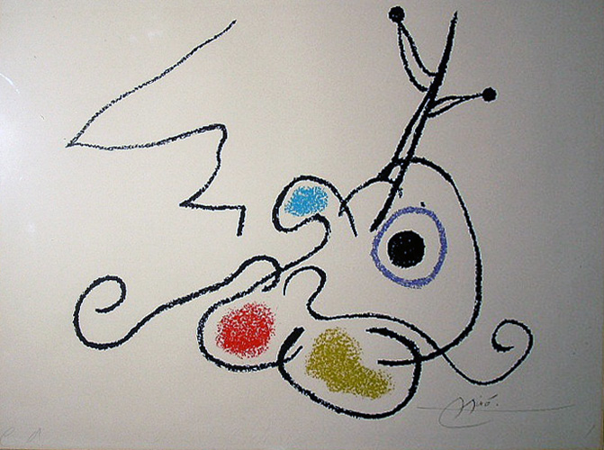 Joan Miro Print - Ubu Aux Baleares EA