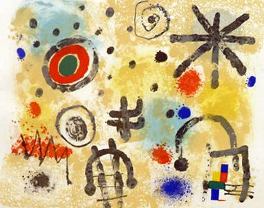 Joan Miro Print - Signs And Meteors