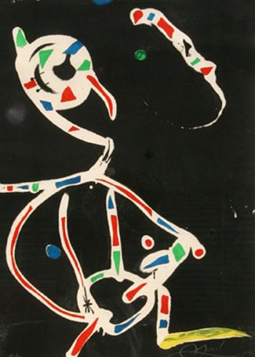 Joan Miro Print - La Traca III (Fireworks III)