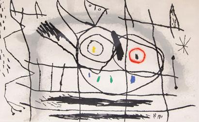 Joan Miro Print - Couple D