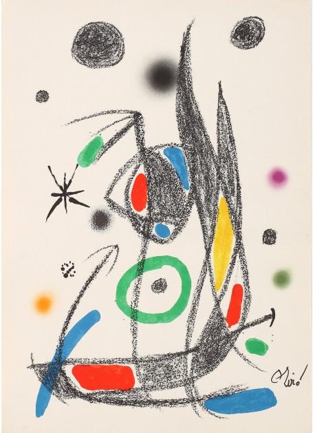 Joan Miro Print - Maravillas con Variaciones Acrosticas en El Jardin de Miro - Maravillas #14