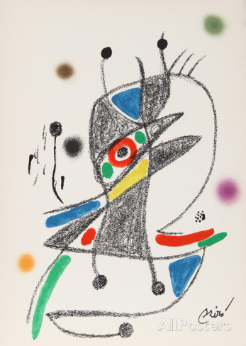 Joan Miro Print - Maravillas con Variaciones Acrosticas en El Jardin de Miro - Maravillas #2