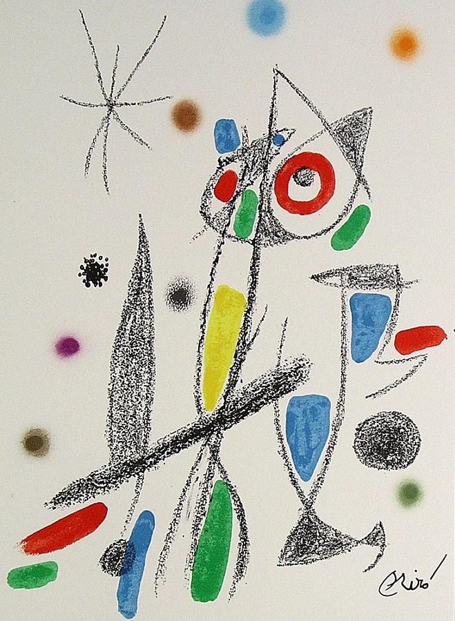 Joan Miro Print - Maravillas con Variaciones Acrosticas en El Jardin de Miro - Maravillas #12
