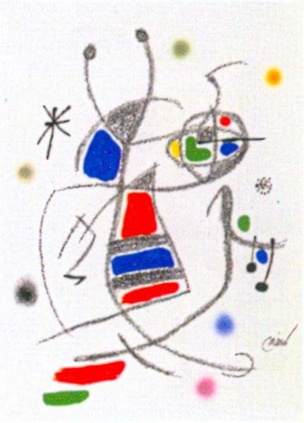 Joan Miro Print - Maravillas con Variaciones Acrosticas en El Jardin de Miro - Maravillas #8