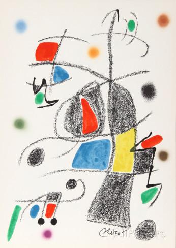Joan Miro Print - Maravillas con Variaciones Acrosticas en El Jardin de Miro - Maravillas #17