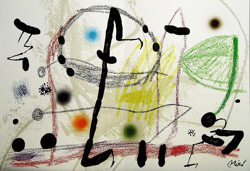 Joan Miro Print - Maravillas con Variaciones Acrosticas en El Jardin de Miro - Maravillas #13