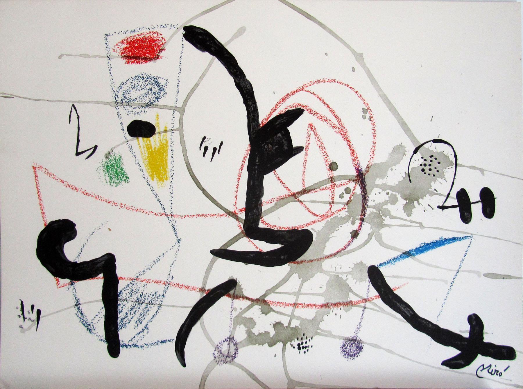 Joan Miro Print - Maravillas con Variaciones Acrosticas en El Jardin de Miro - Maravillas #11