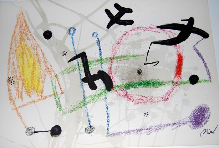 Joan Miro Print - Maravillas con Variaciones Acrosticas en El Jardin de Miro - Maravillas #5