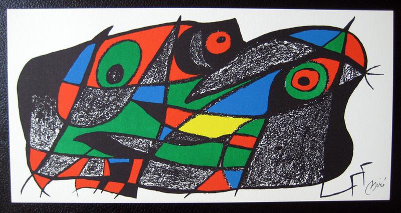 Joan Miro Print - Miro Sculptors - Sweden