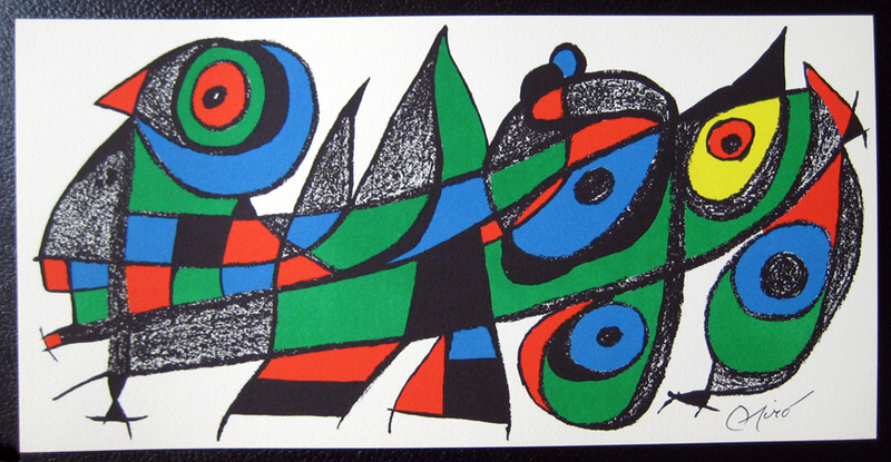 Joan Miro Print - Miro Sculptors - Japan